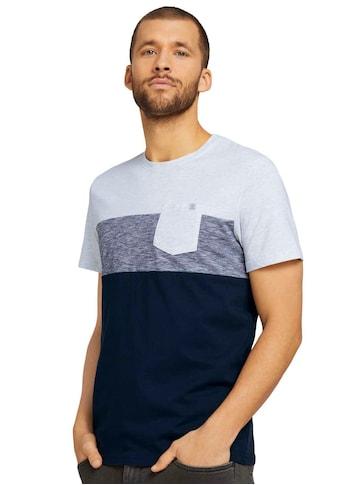 TOM TAILOR Rundhalsshirt, mit Blockstreifen kaufen