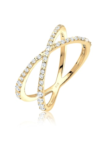 Elli Fingerring »Silberring Kreuz mit Zirkonia 925 Silber« kaufen
