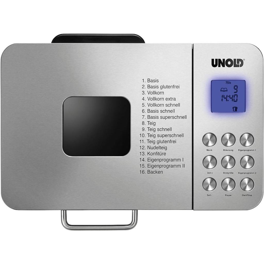 Unold Brotbackautomat Backmeister Edel 68456, 16 Programme, 550 Watt