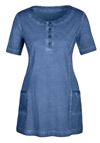 Classic Basics Longshirt in aktueller »oil dyed« - Färbung kaufen