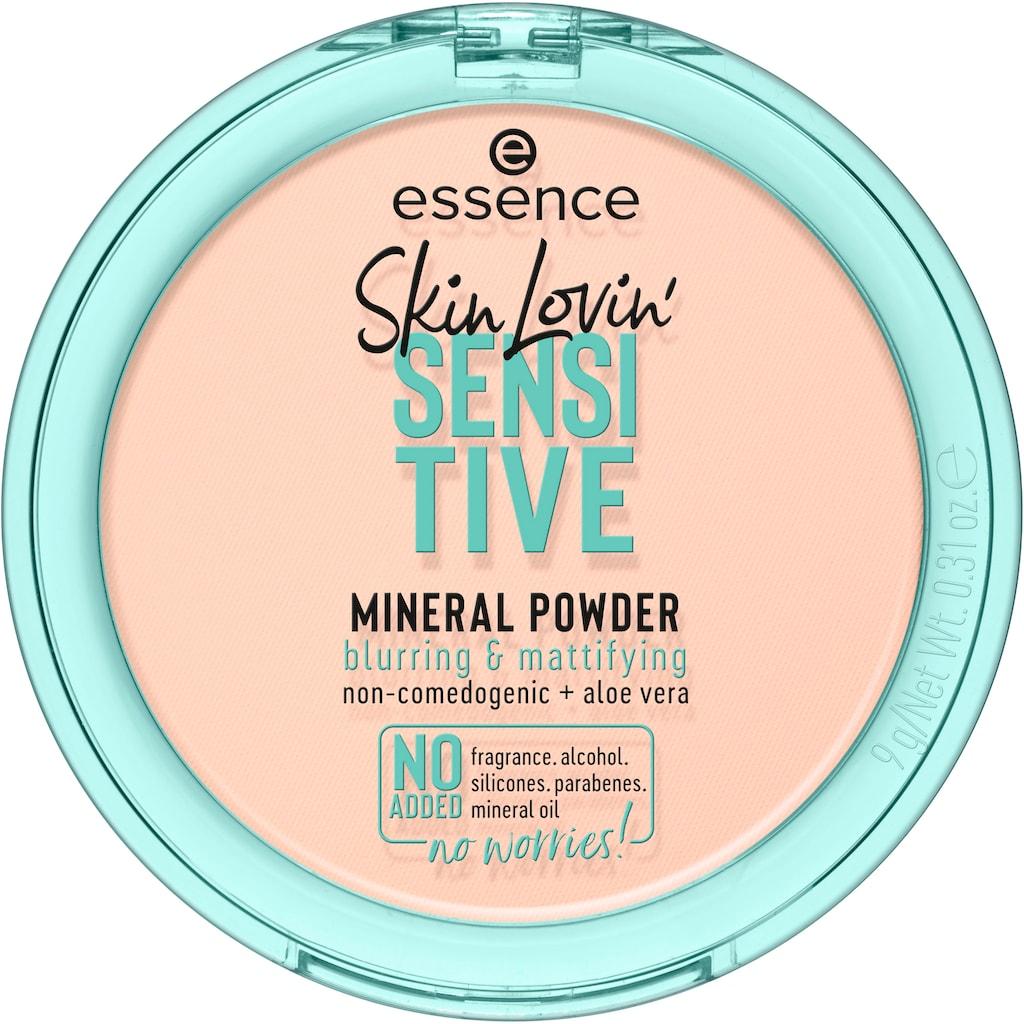 Essence Puder »Skin Lovin' SENSITIVE MINERAL POWDER«, (Set, 3 tlg.)