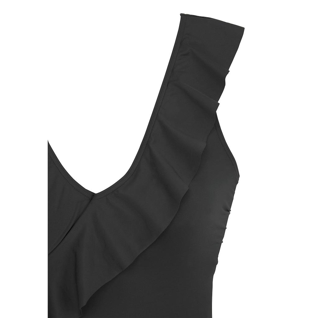 LASCANA Badeanzug, in Off-shoulder-Form und mit Volants