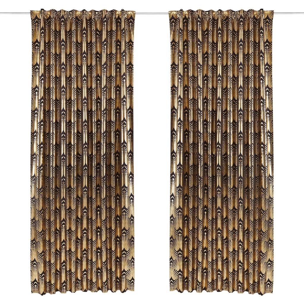 Guido Maria Kretschmer Home&Living Vorhang »Constanze«, blickdicht, Foliendruck mit Fächermotiv