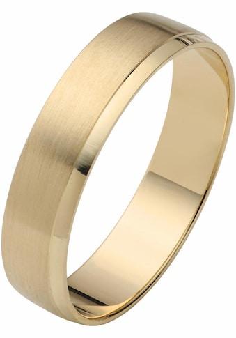 Firetti Trauring mit Gravur »5,0 mm, glanz, matt, mit Diamantschnitt, Gelbgold« kaufen