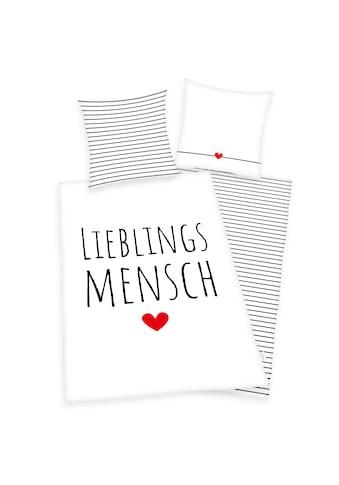 Herding Wendebettwäsche »Lieblingsmensch, Baumwoll-Renforcé« kaufen