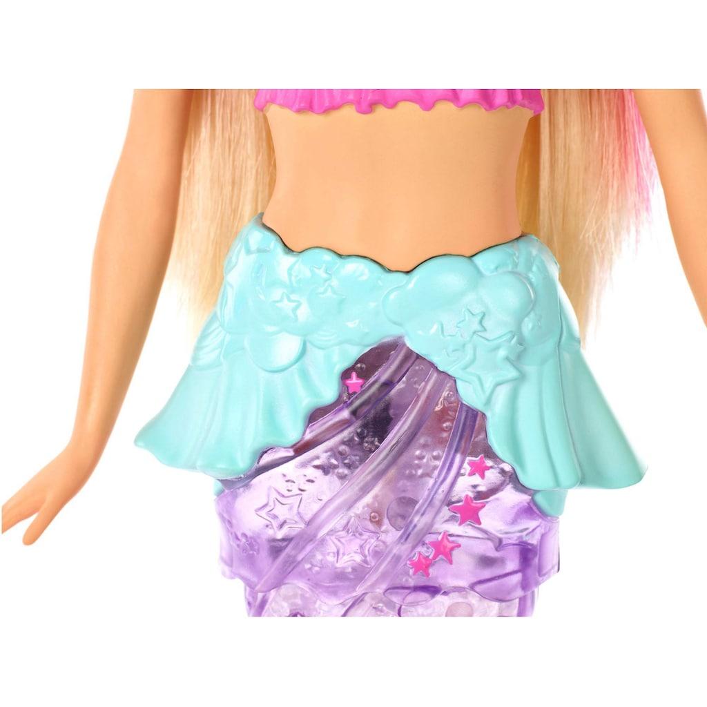 Barbie Anziehpuppe »Dreamtopia Glitzerlicht Meerjungfrau, blond«, mit Lichteffekten