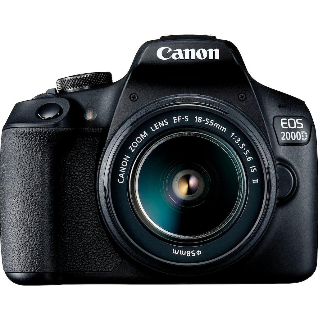 Canon Spiegelreflexkamera »EOS 2000D EF-S 18-55 IS II Value Up Kit«, EF-S 18-55 IS II, 24,1 MP, NFC-WLAN (Wi-Fi)