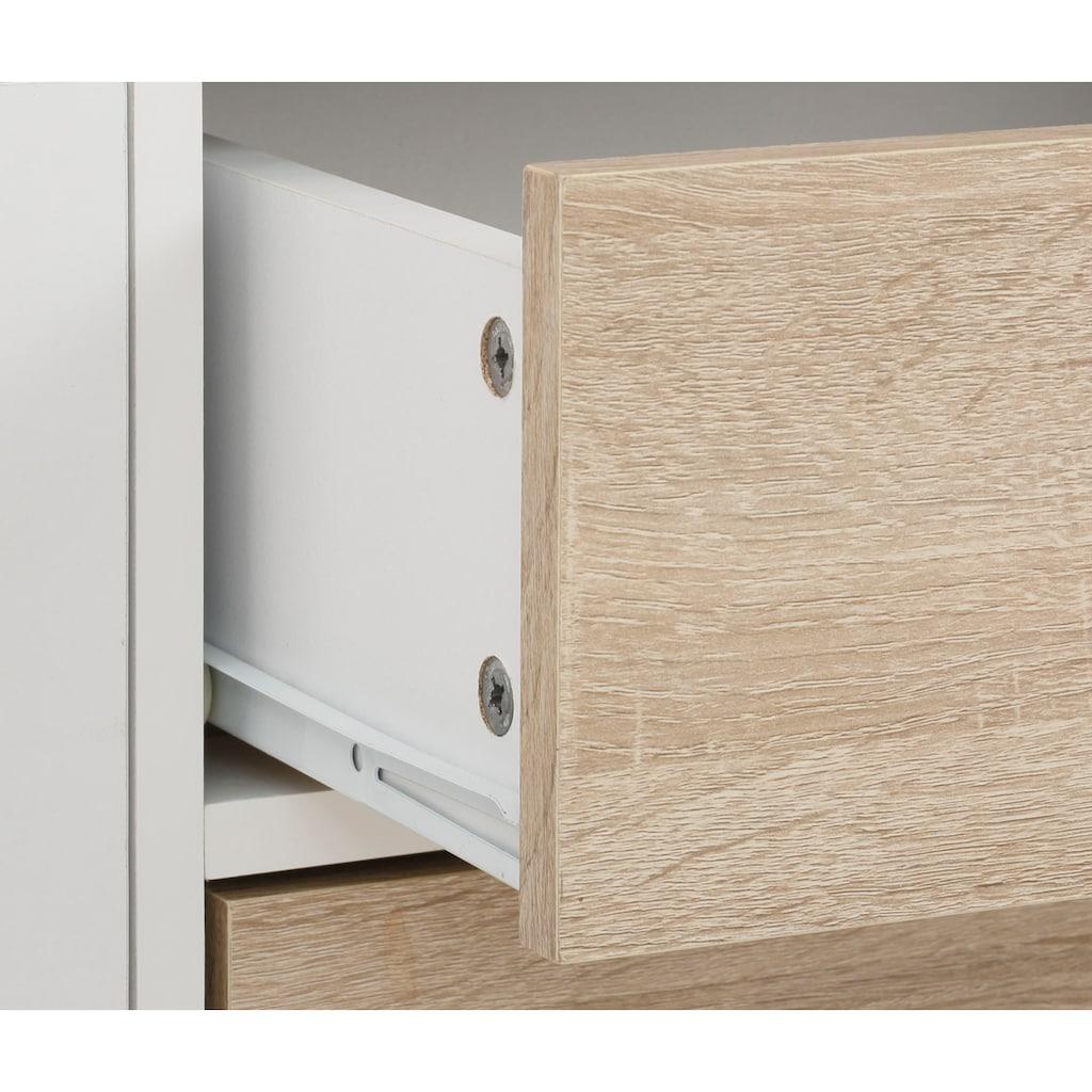 Home affaire Lowboard »Ramon«, mit schönen Metallgriffen und Jalousine Türen
