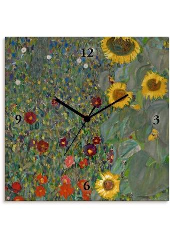Artland Wanduhr »Garten mit Sonnenblumen«, lautlos, ohne Tickgeräusche, nicht tickend,... kaufen