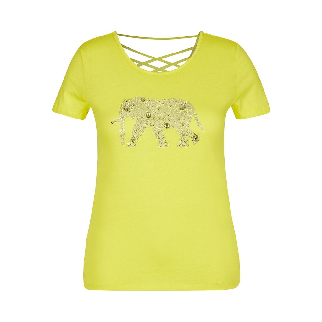 VIA APPIA Modisches T-Shirt mit Glitzersteinchen