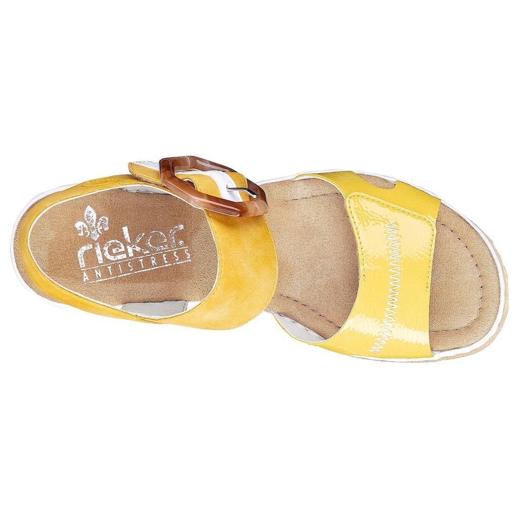Rieker Sandalette, mit auffälliger Schmuckspange