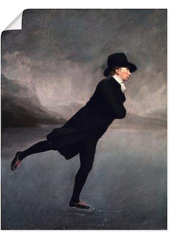 Artland Wandbild »Pfarrer Robert Walker beim Eislaufen«, Mann, (1 St.), in vielen... kaufen