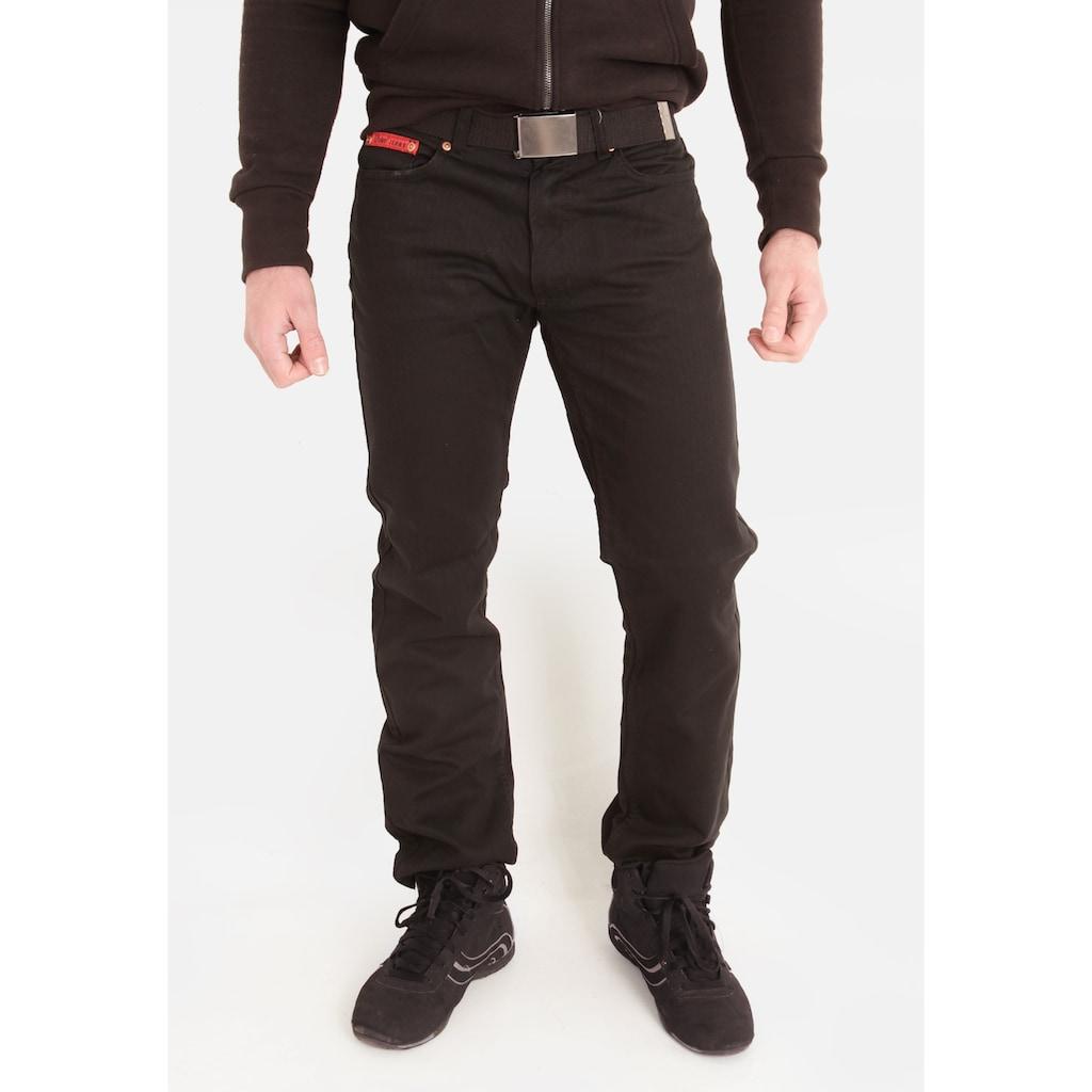 Duke Clothing Cordhose »London Herren Mario Bedford Kord Hose mit Gürtel«