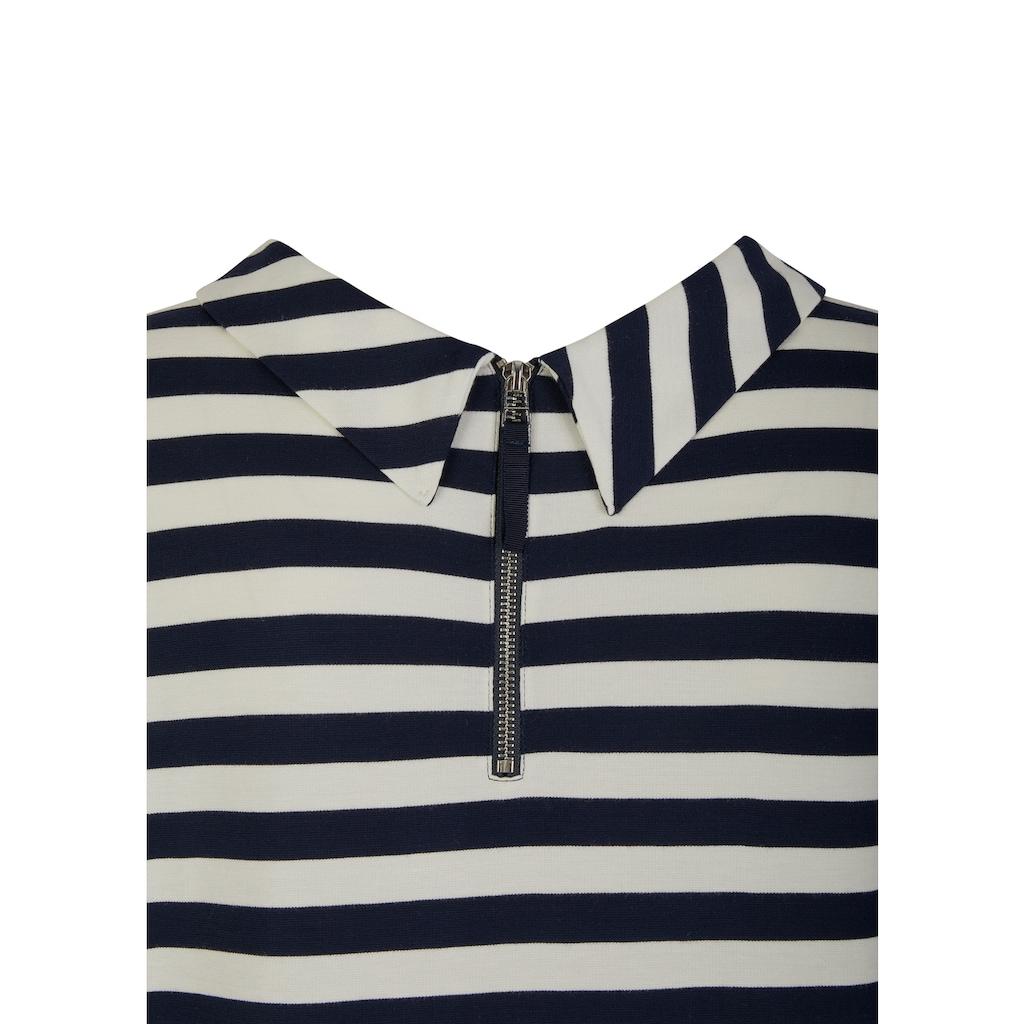 VIA APPIA DUE 3/4-Arm-Shirt, mit raffiniertem Kragen & Rücken-Zipper