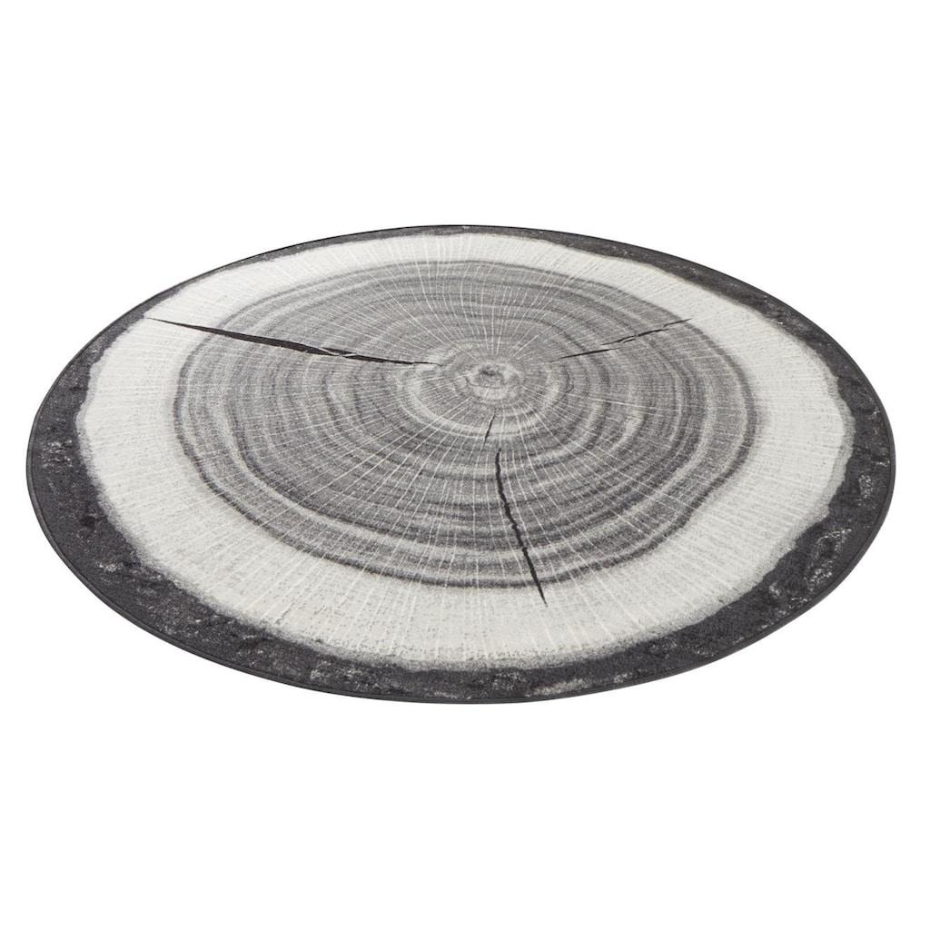 HANSE Home Teppich »Baumstamm«, rund, 6 mm Höhe, Kurzflor, gekettelt, Wohnzimmer