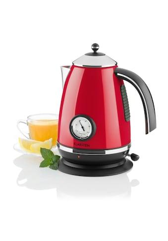 Klarstein Wasserkocher Teekessel 1,7l 2200W Thermometer »Aquavita Chalet« kaufen