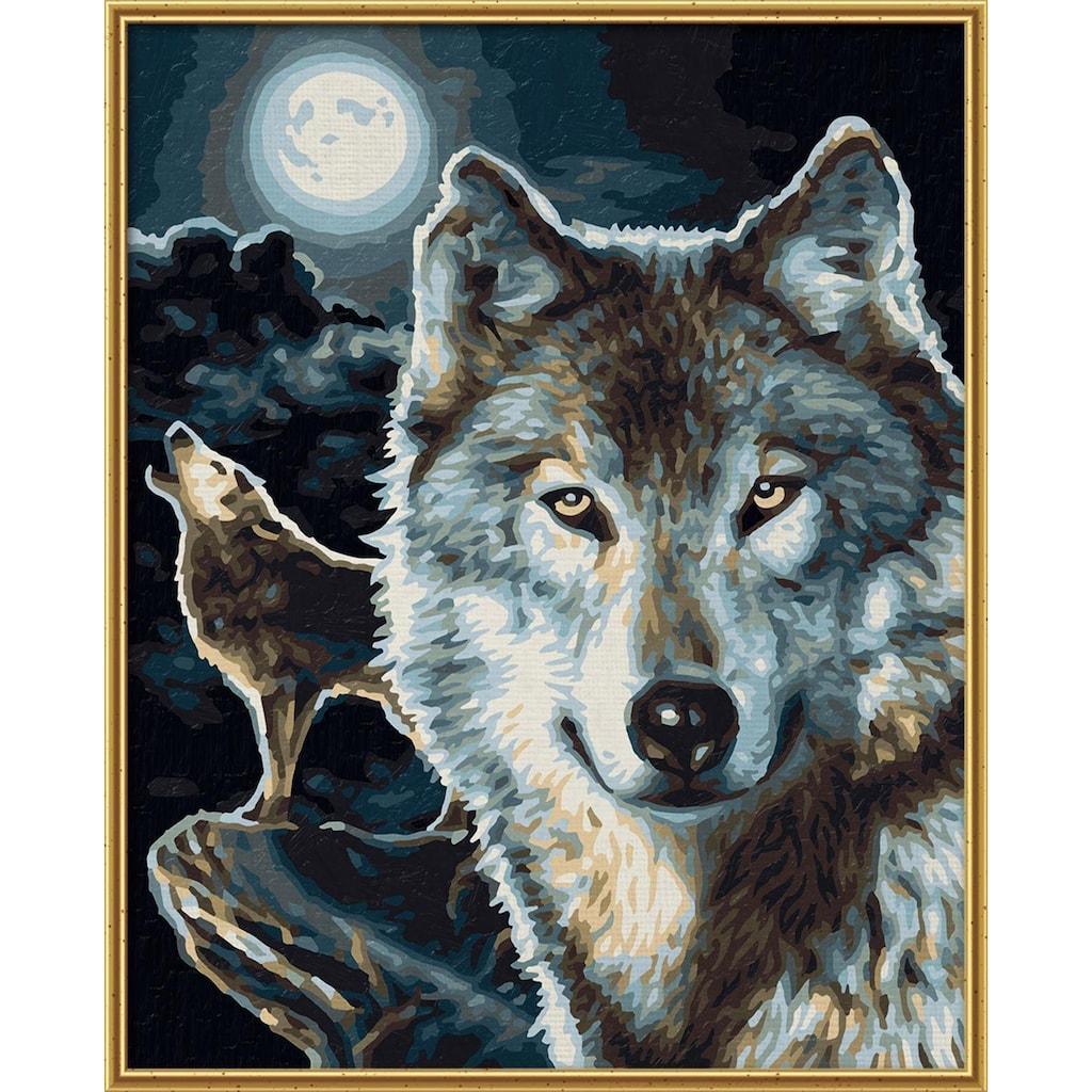 Schipper Malen nach Zahlen »Meisterklasse Klassiker - Wölfe«, Made in Germany