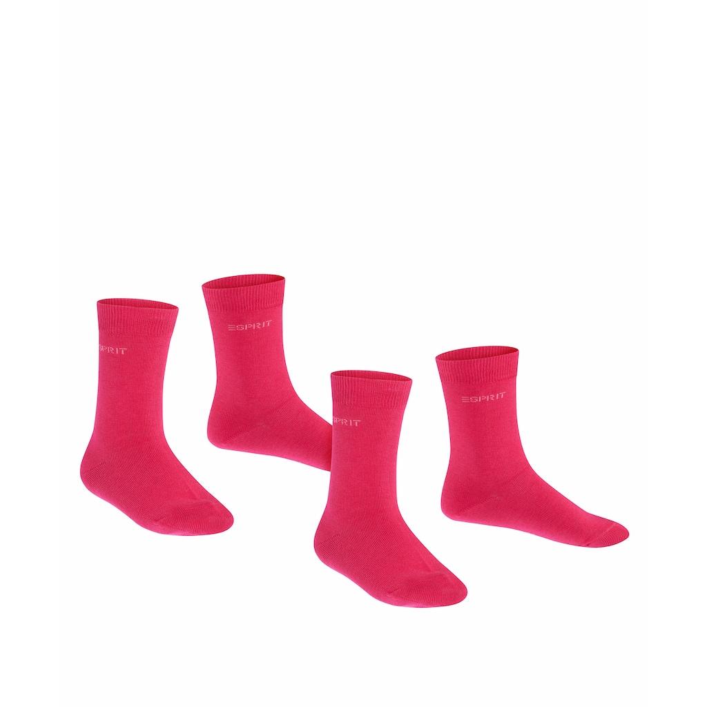 Esprit Socken »Foot Logo 2-Pack«, (2 Paar), ein unbeschwerter Tragekomfort