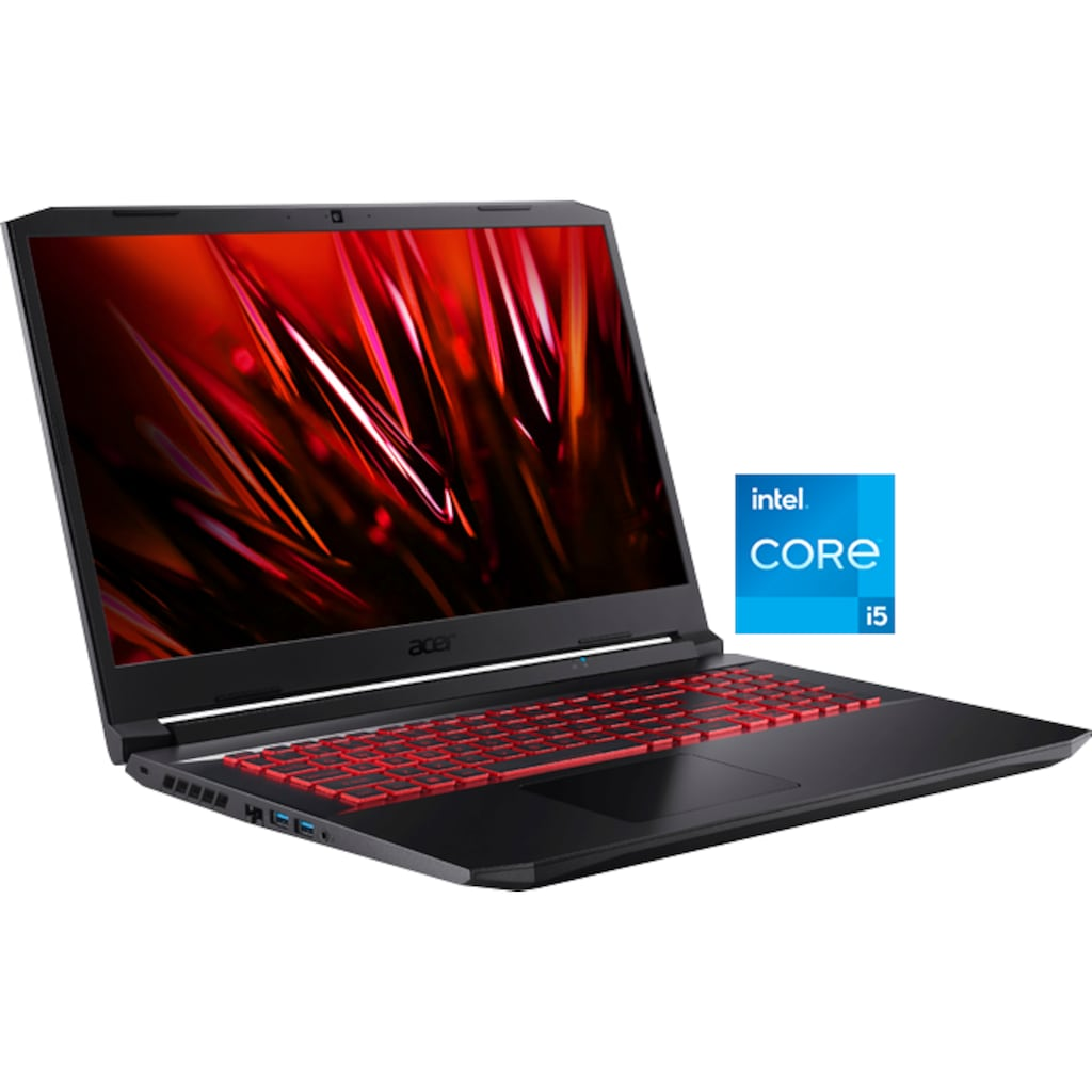 "Acer Notebook »Nitro 5 AN517-54-53NS«, (43,94 cm/17,3 "" Intel Core i5 GeForce RTX 3050 Ti\r\n 512 GB SSD), Kostenloses Upgrade auf Windows 11, sobald verfügbar"