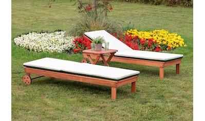 MERXX Gartenliege »Aktionsliegen Set«, 2 Liegen mit Auflage, 1 Hocker kaufen