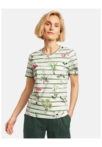 GERRY WEBER Kurzarmshirt »1/2 Arm Shirt mit Mustermix« kaufen