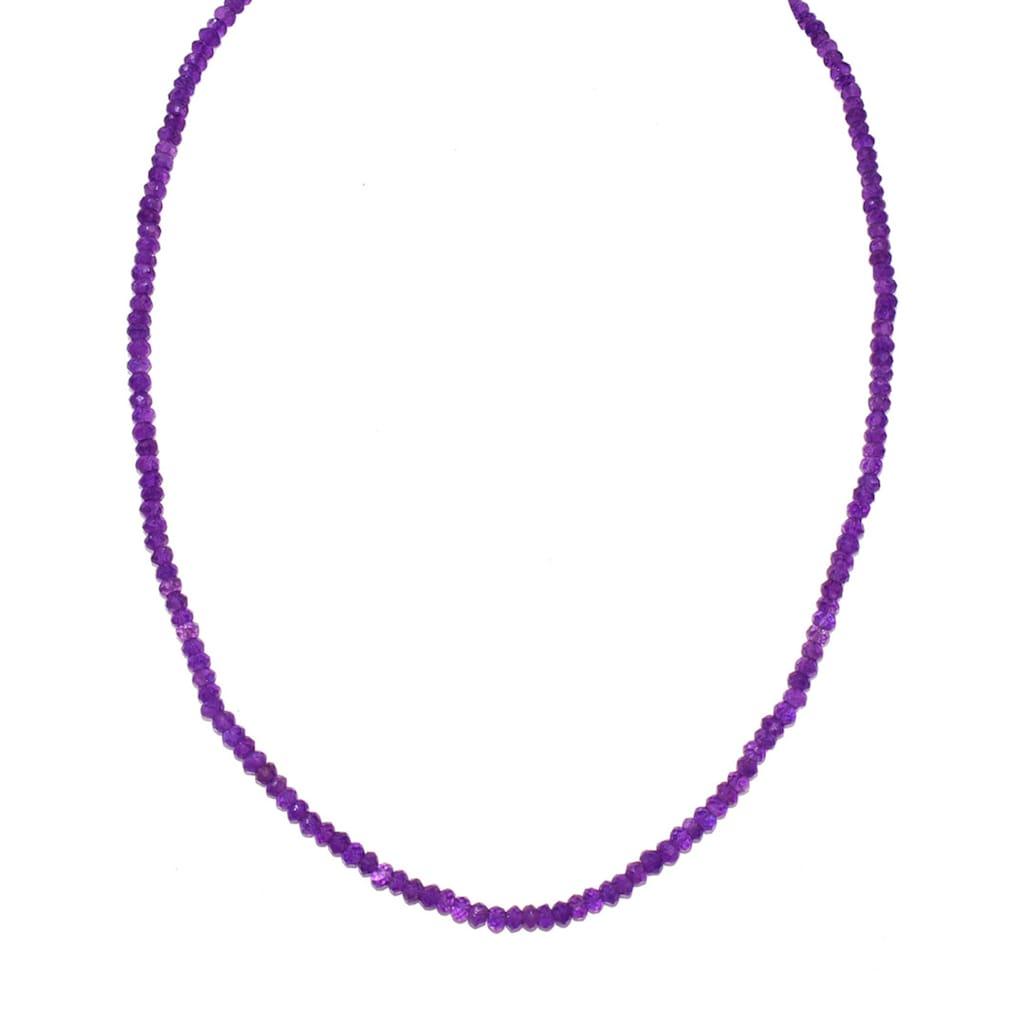 Firetti Collier »Runde Steine, 4 mm breit, facettiert«, mit Amethysten, Made in Germany
