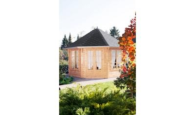 WOLFF FINNHAUS Holzpavillon »Roma 4.0«, BxT: 480x480 cm, mit schwarzen Schindeln kaufen