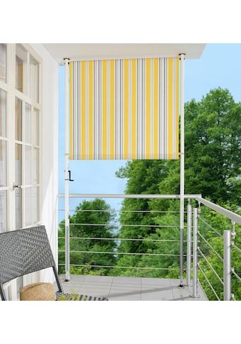 ANGERER FREIZEITMÖBEL Klemm - Senkrechtmarkise gelb/grau, BxH: 150x225 cm kaufen