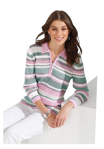 Classic Basics Pullover mit mehrfarbigen Streifen - Muster kaufen