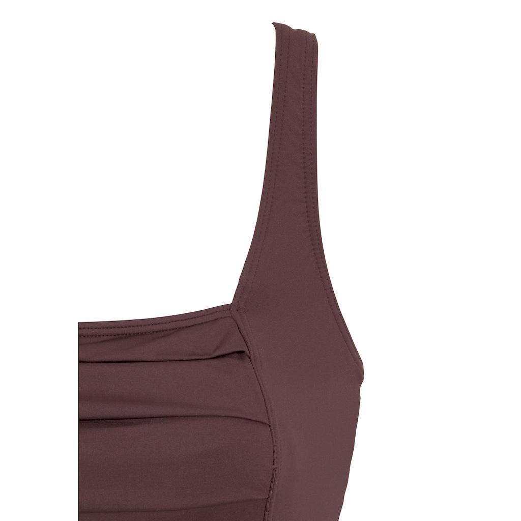 LASCANA Badekleid, mit schönem Druck oder unifarben