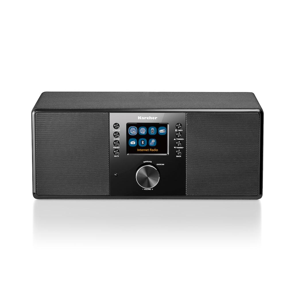 Karcher Internet-Radio »DAB 7000i«, (WLAN-Bluetooth Digitalradio (DAB+)-FM-Tuner-Internetradio 14 W)