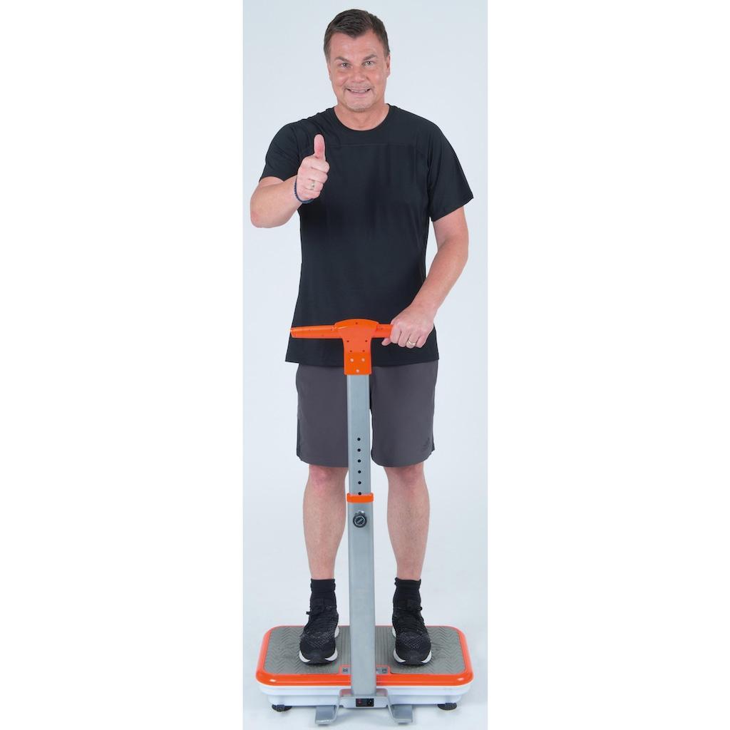 MediaShop Vibrationsplatte »VIBROSHAPER«, 200 W, 3 Intensitätsstufen, (Set, mit Trainingsbändern), mit abnehmbarer Haltestange