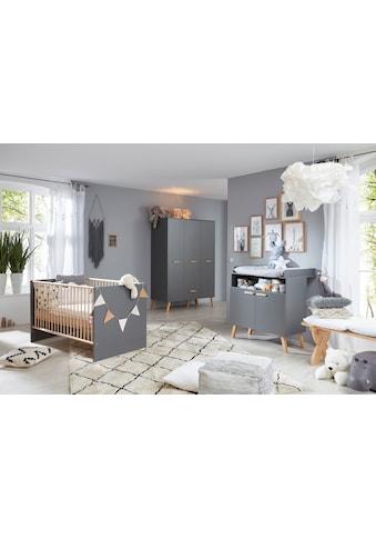 Babyzimmer-Komplettset »Toronto«, (Set, 3 St.), Bett, Wickelkommode und Schrank 3 türig kaufen