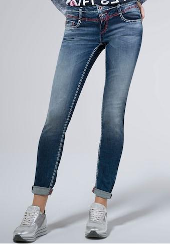SOCCX Slim-fit-Jeans »KA:RA«, mit Doppel-Knopf und Deko-Nähten kaufen