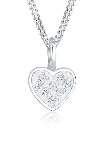 Elli Collierkettchen »Herz Liebe Diamant (0.04 ct.) 925 Silber« kaufen