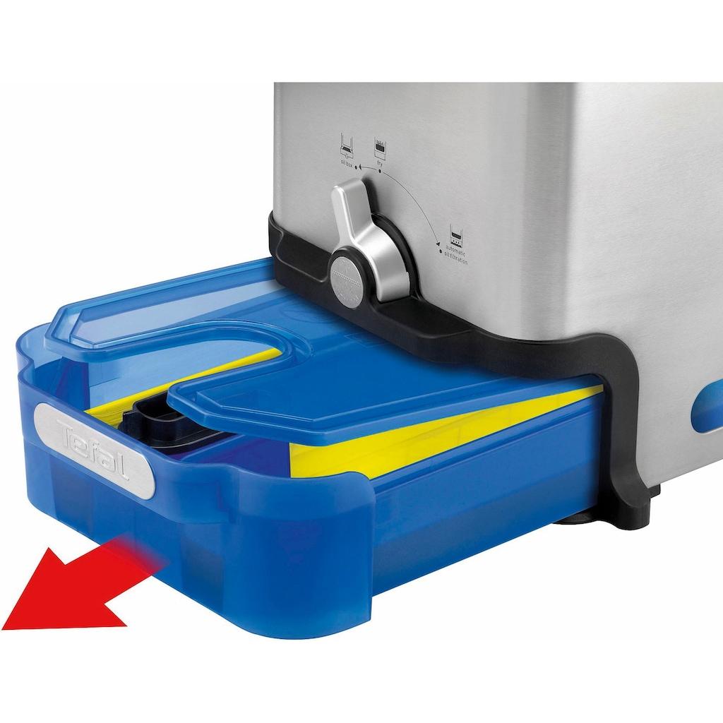 Tefal Kaltzonenfritteuse »FR8040 Oleoclean Pro Inox & Design«, Fassungsvermögen: 1,2 kg