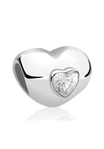 Nenalina Bead »Herz Bead Anhänger Cubic Zirkonia 925 Silber« kaufen
