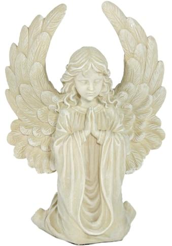 Casa Collection by Jänig Engelfigur »Engel mit großen Flügeln, klein, kniend, betend,... kaufen