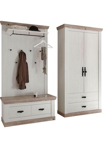 Home affaire Garderoben-Set »Florenz«, (3 St.), bestehend aus 1 Bank, 1 Paneel und 1... kaufen