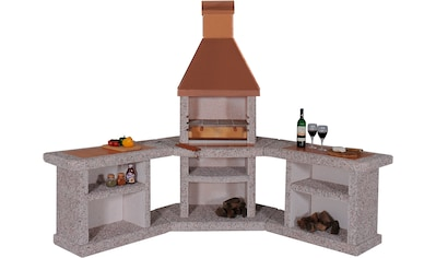 WELLFIRE Grillkamin »Außenküche Toskana«, BxTxH: 188x73x19 cm kaufen