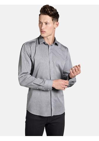 SHIRTMASTER Langarmhemd »greyshades«, mit verdeckter Knopfleiste kaufen