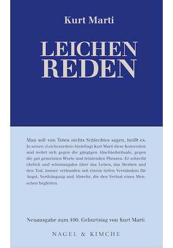 Buch »Leichenreden / Kurt Marti, Peter Bichsel« kaufen