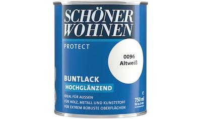 SCHÖNER WOHNEN-Kollektion Lack »Protect Buntlack«, hochglänzend, 750 ml, altweiß kaufen