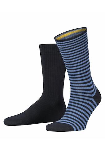 Esprit Socken »Ribbed Stripe 2-Pack«, (2 Paar), aus Baumwolle kaufen