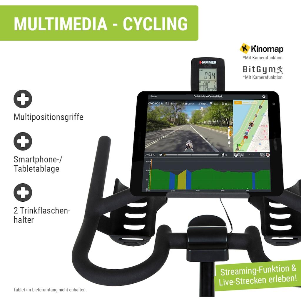 Hammer Speedbike »Racer«, Trainingscomputer mit LCD-Anzeige, Fitness-Apps per Smartphone/Tablet
