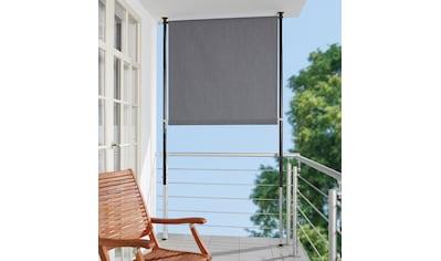 ANGERER FREIZEITMÖBEL Klemm - Senkrechtmarkise grau, BxH: 120x275 cm kaufen