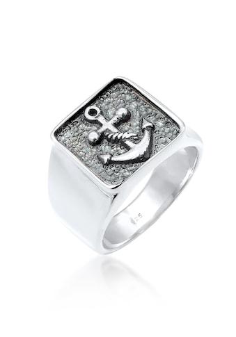 Kuzzoi Siegelring »Herren Siegelring Anker Symbol Oxidiert 925 Silber« kaufen