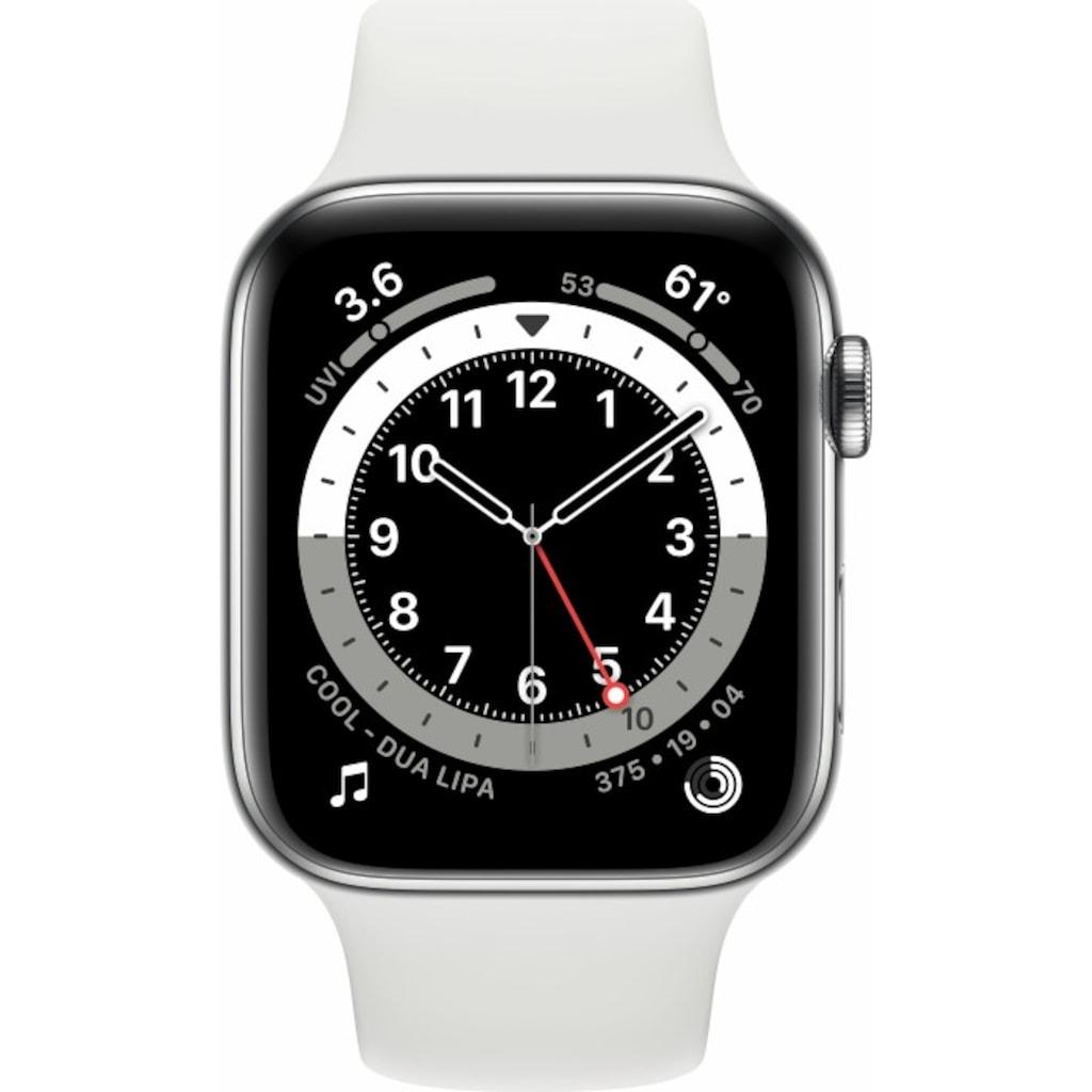 Apple Smartwatch »Series 6, GPS, Aluminium-Gehäuse, 44 mm mit Sportarmband«