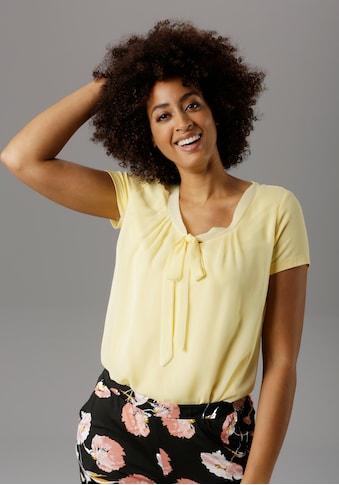 Aniston SELECTED Shirtbluse, mit gedoppeltem Vorderteil kaufen