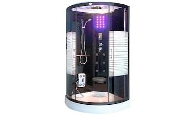 Komplettdusche »Black Pearl 100x100 cm«, Tropenbrause, BxT: 100x220 cm kaufen